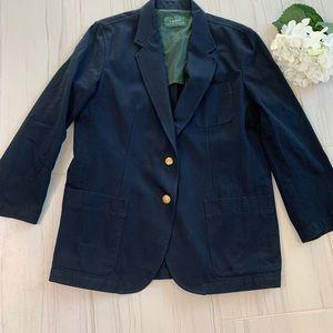 Ralph Lauren Blue Blazer Jacket Cotton Extra Large